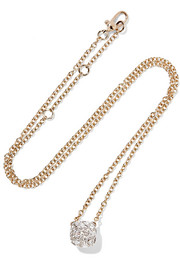Nudo 18-karat rose and white gold diamond necklace