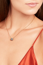 Nudo 18-karat rose gold diamond necklace