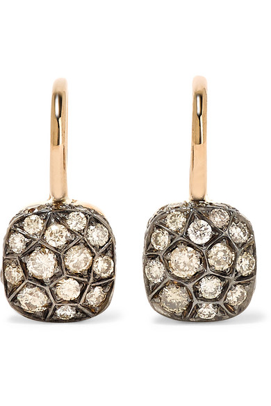 Pomellato - Nudo 18-karat Rose Gold Diamond Earrings