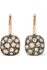 Nudo 18-karat rose gold diamond earrings