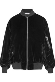 IRO Oversized cotton-velvet bomber jacket