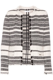 Zlata striped cotton-blend tweed jacket