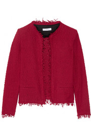 Frayed cotton-blend bouclé jacket