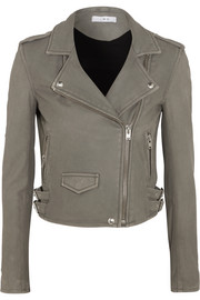 IRO Ashville washed-leather biker jacket