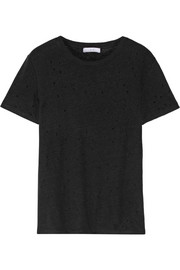 IRO Distressed linen-jersey T-shirt