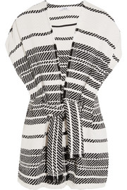 IRO Striped cotton-blend vest