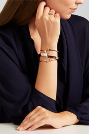 T Wrap 18-karat rose gold diamond bracelet