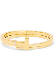 T Wrap 18-karat gold diamond bracelet