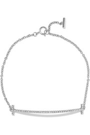 T Smile 18-karat white gold diamond bracelet