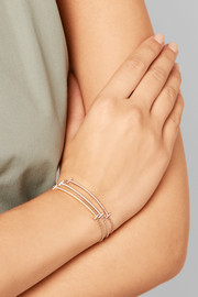 T Smile 18-karat rose gold diamond bracelet