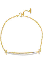 T Smile 18-karat gold diamond bracelet