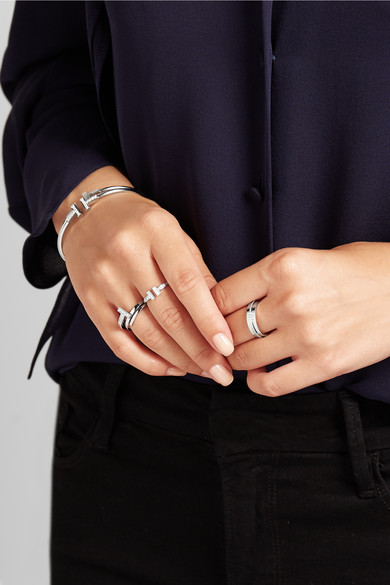 Tiffany T Two Ring Silver