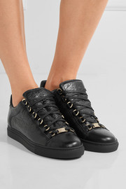 Arena crinkled-leather sneakers