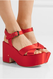 Helissa satin platform sandals