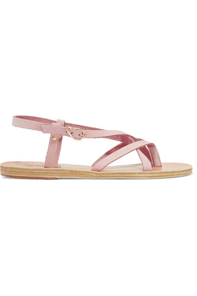 Ancient Greek Sandals - Semele Nubuck Sandals - Baby pink