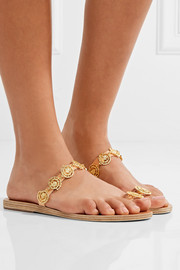 Ancient Greek Sandals Selene embellished leather sandals