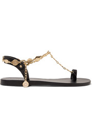 Ancient Greek Sandals Pandora chain-embellished leather sandals