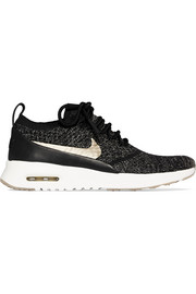 Nike Air Max Thea Ultra leather-trimmed Flyknit sneakers