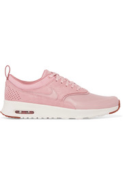 Air Max Thea matte and cracked-leather sneakers