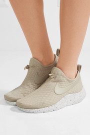 Aptare toggle-detailed textured-knit sneakers
