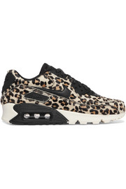 Air Max 90 leather-trimmed calf hair sneakers