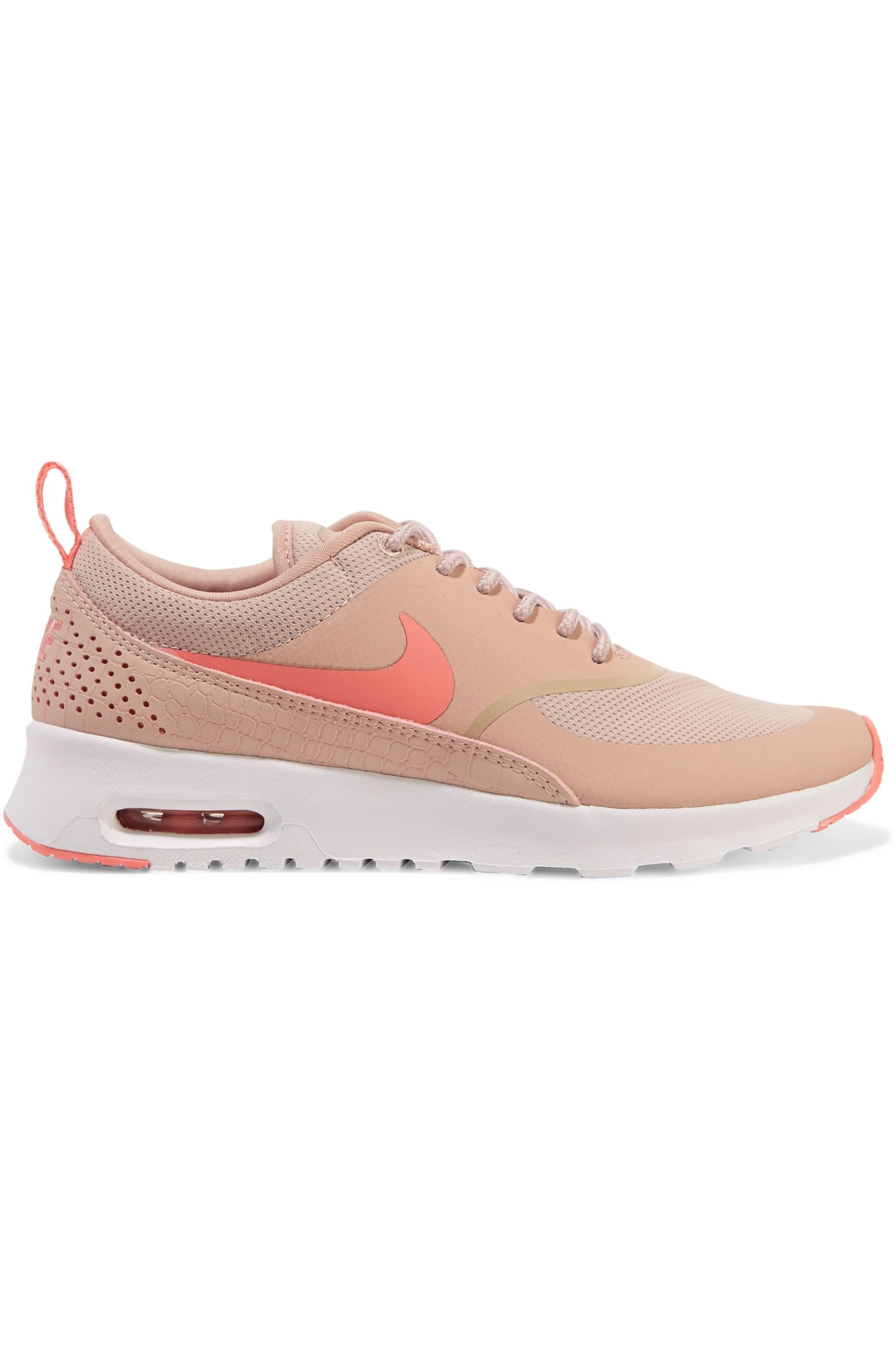 Nike Air Max Thea embossed leather and mesh sneakers