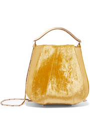 Eddie Borgo Pepper velvet and leather bucket bag