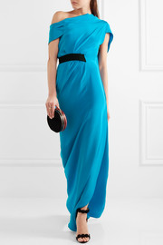 Roland Mouret Minton one-shoulder silk gown