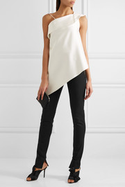 Roland Mouret Mortimer stretch-cotton crepe skinny pants