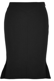 Roland Mouret Nash fluted wool-crepe skirt