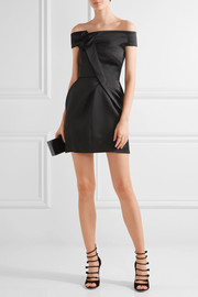 Roland Mouret Herland off-the-shoulder double-faced satin mini dress