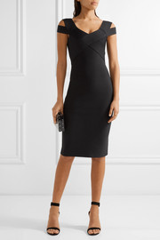 Roland Mouret Morland cutout double-faced stretch-knit dress
