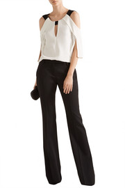 Roland Mouret Robyn cutout stretch-crepe top