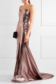 Roland Mouret Brenner strapless lamé gown