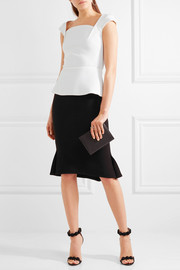 Roland Mouret Abbey wool-crepe peplum top