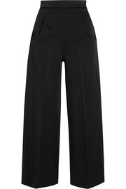 Ward satin wide-leg pants