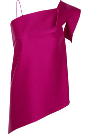 Roland Mouret Iver one-shoulder asymmetric satin top