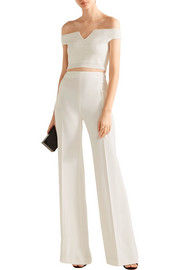 Roland Mouret Nicolas off-the-shoulder stretch-knit top