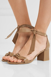 Clarita bow-embellished leather sandals