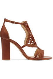 Marinah woven suede and leather sandals