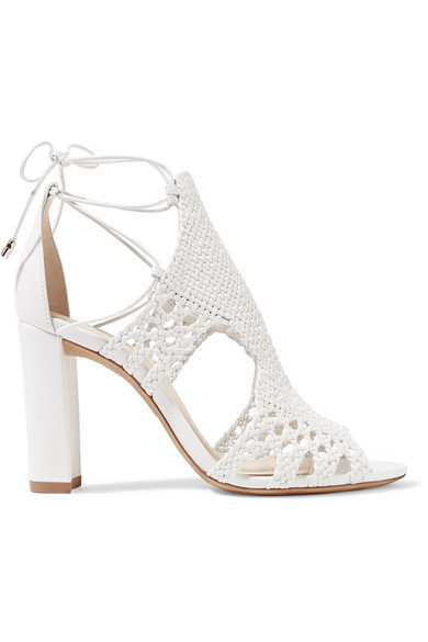 Alexandre Birman - Woven Leather Sandals - White