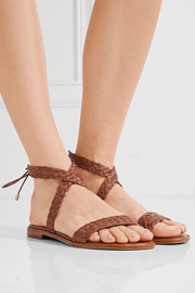 Pauline woven leather sandals