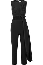Roksanda Thurloe draped cutout jersey and crepe jumpsuit