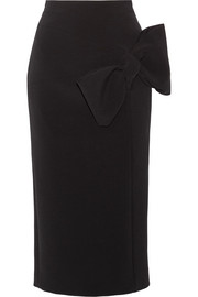 Roksanda Maida bow-embellished stretch-crepe skirt