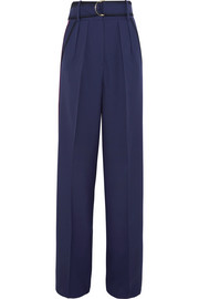 Roksanda Tillae satin-trimmed wool and silk-blend wide-leg pants