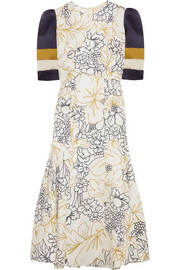 Roksanda Thalia printed silk-twill dress