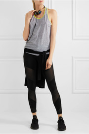 Monreal London Waterfall mesh-paneled stretch-jersey leggings