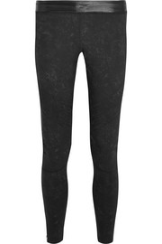 Biker stretch-jersey leggings
