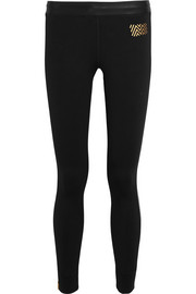 Monreal London Athlete striped stretch-jersey leggings