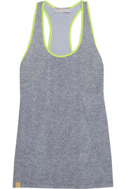 Monreal London Perforated stretch-jersey racer-back tank